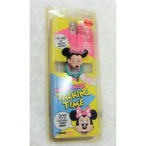 Vtg 80s Minnie Mouse Talking Watch